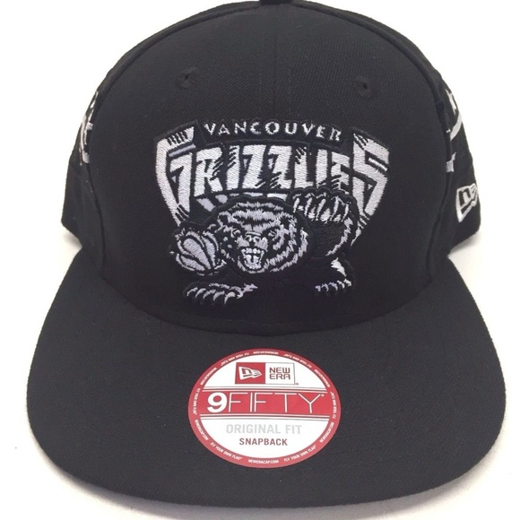 7a744074c6f50 New Era 9FIFTY Men s NBA Vancouver Grizzlies Black